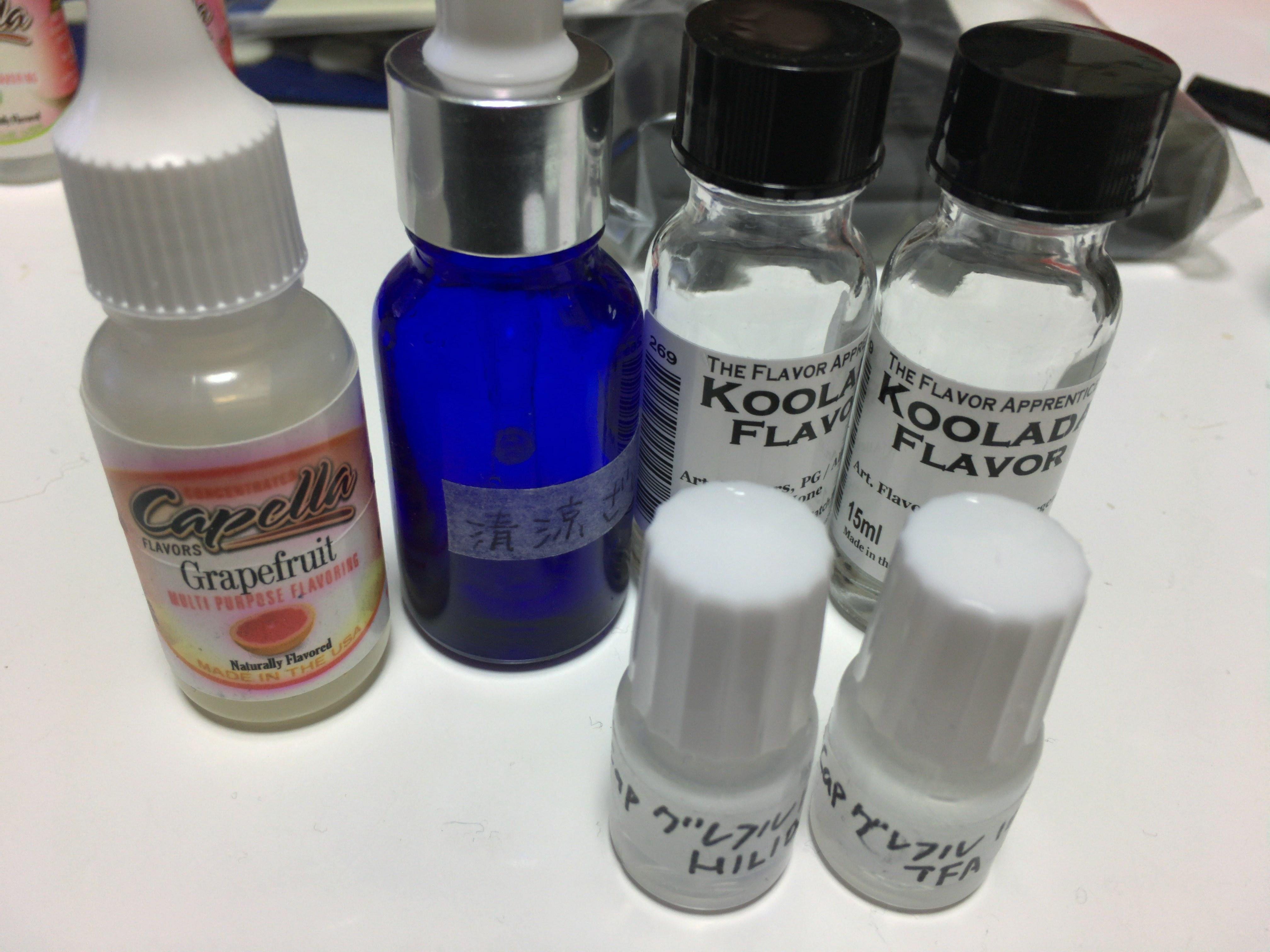 TPA(TFA)の清涼剤を買ってみたのでHILIQの物と比較