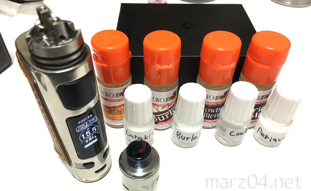 FlavourArt タバコ系フレーバー4種単品確認 & Bitter Wizerd検証