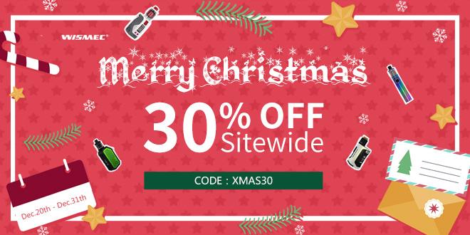 Wismec直販サイトのクリスマスセール(30%OFFクーポンコード)情報
