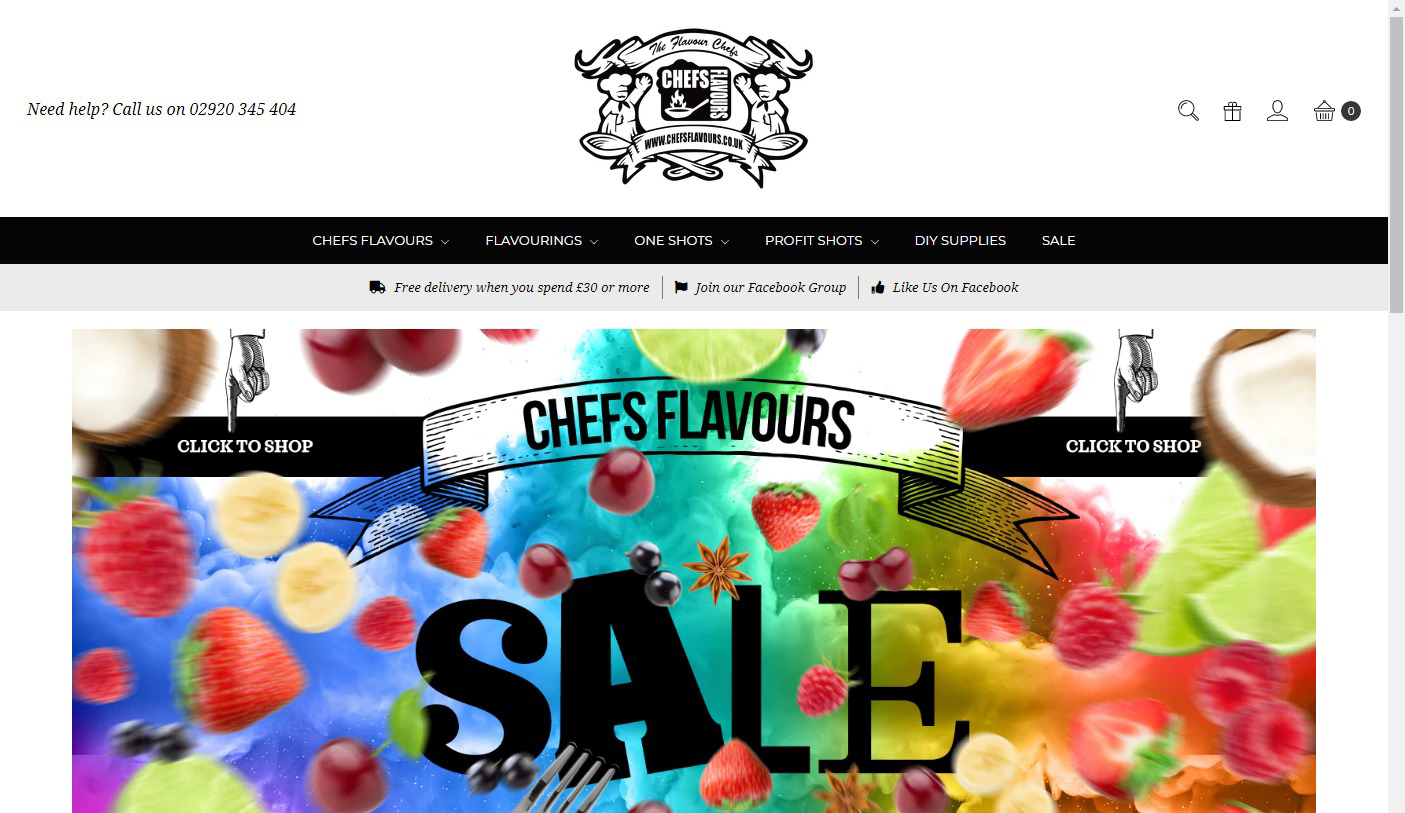 Chefs Flavoursのサイトがリニューアル、もう日本から購入不可?→修正中の模様