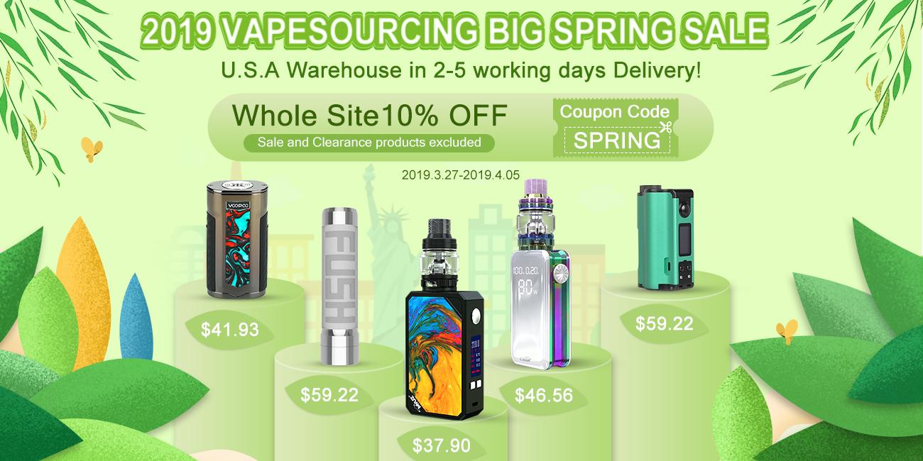 VapeSourcingさんの春のキャンペーン|クーポンコードや日替わりフラッシュセールなど