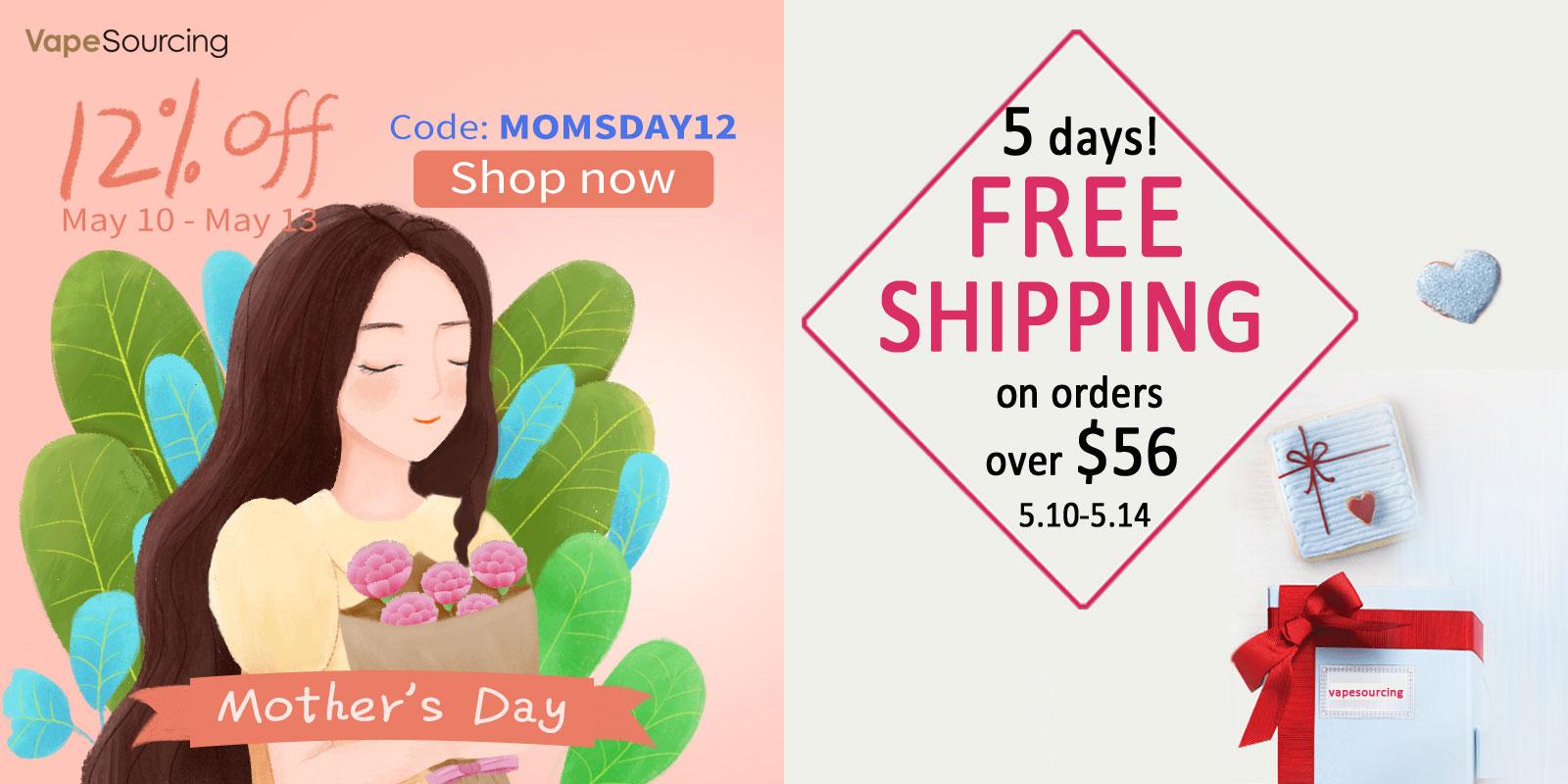 VapeSourcingの母の日セール|クーポンコードと送料無料の2本立て
