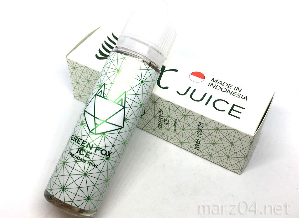 REX JUICE GREEN FOX ICE リキッドレビュー|Expoで大人気だった濃厚キウイリキッドが日本上陸