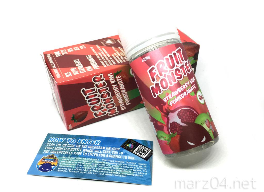 Fruit Monster STRAWBERRY KIWI POMEGRANATE リキッドレビュー|後味濃厚なフルーツリキッド