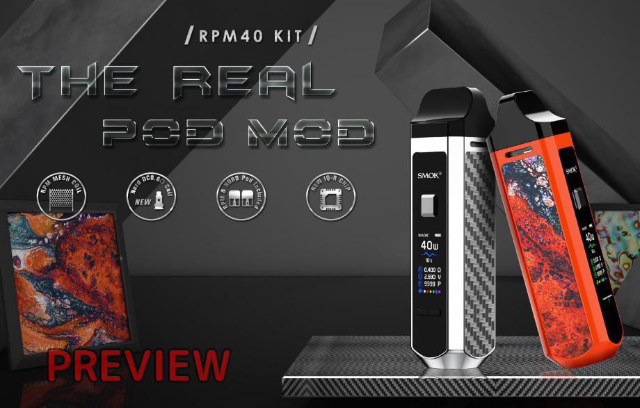 [プレビュー] SMOK RPM40 Pod Mod Kit|VW機能搭載のテクニカルPod、Nord互換やRBAも