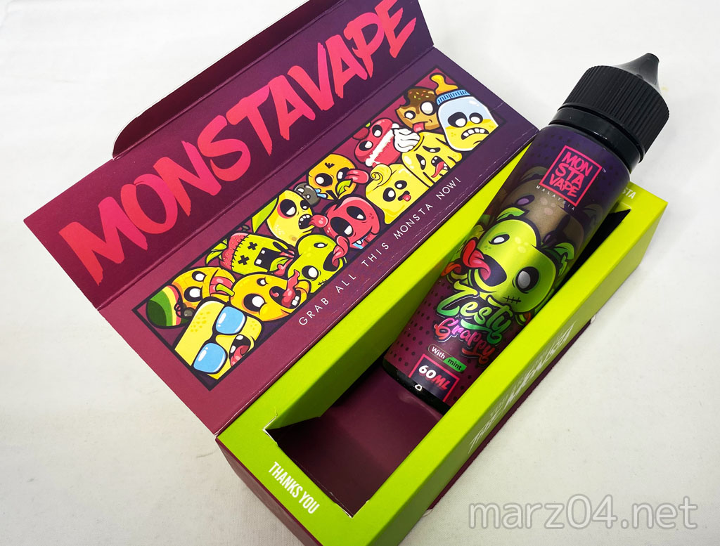 MONSTA VAPE Zesty Grappy with mint リキッドレビュー|グレープの甘みにリンゴの酸味