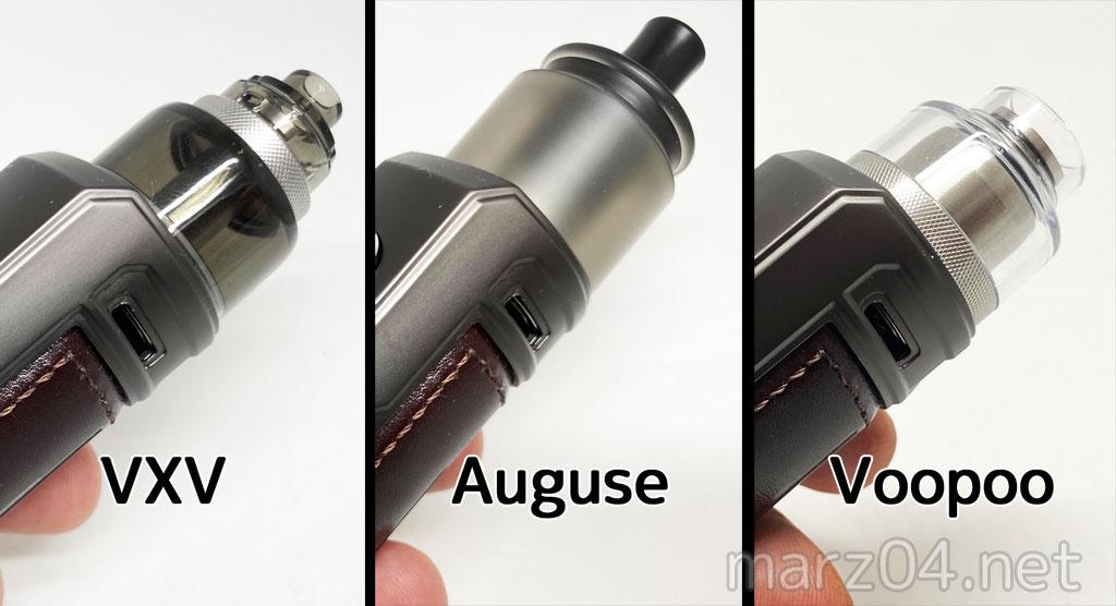 Voopoo DRAG X/S用のRBA Podを3種とも買ってみました|VXV Soulmate RDTA / Auguse Draw RTA / VOOPOO RTA Pod Tank