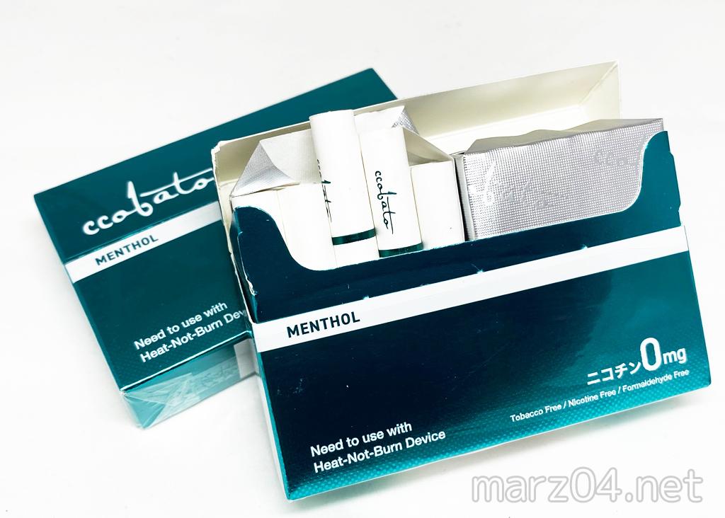 ccobato(コバト)メンソール レビュー|iQOSで使用できる、ニコチンフリーの茶葉ヒートスティック